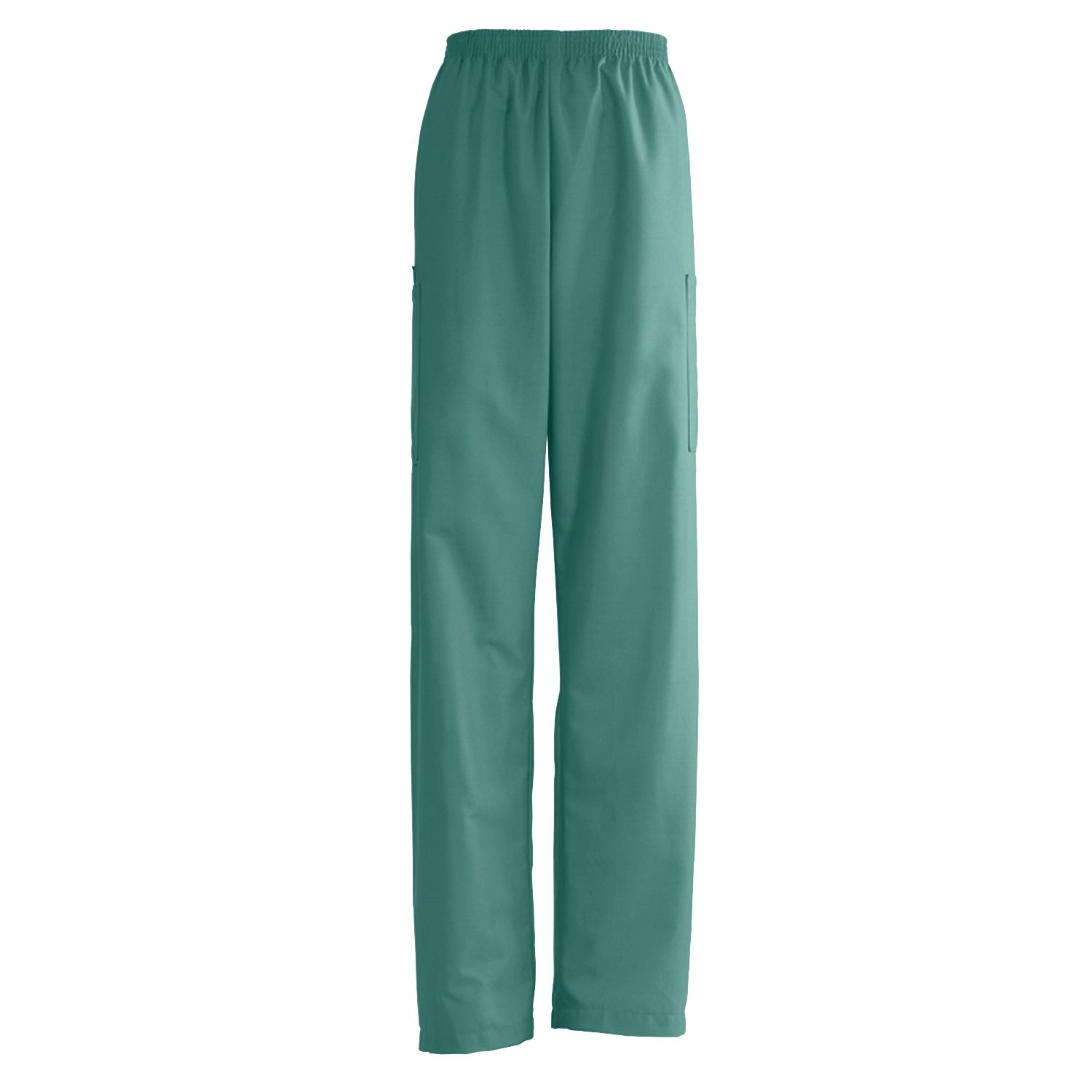 Medline AngelStat Unisex Elastic Waist Cargo Scrub Pants - Emerald, Sm, Long, Each - Model 674NJTSL
