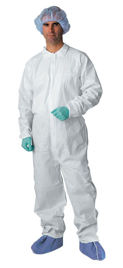 Classic Breathable Coverall - Brthbl, Elastc Wrst/Ankl, Wht, 2Xl, Box of 25 - Model NONCV700XXL