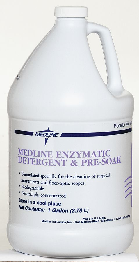 Medline Dual-Enzymatic Surgical Instrument Presoak - Cleaner, Enzymtic, Dual Enzyme, 1G, Each - Model MDS88000B9