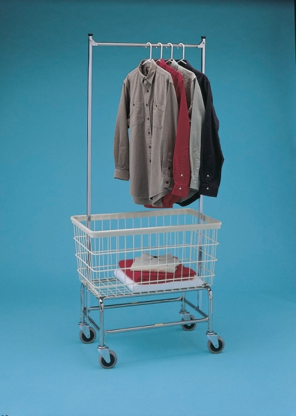 R & B Wire Products Wire Laundry Cart - Chrome Only, Medium, Each - Model 200F