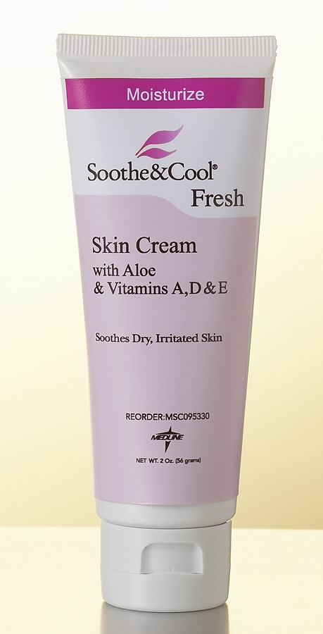 Medline Soothe & Cool Skin Cream - Unscented, 2 Oz, Box of 12 - Model MSC095334