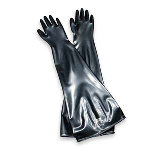 North Safety Neoprene Glove Box Gloves, 93/4, Model 8N3032A/9Q, Pack of 2