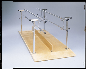 Std Height/Width Adjustable Parallel Bars, 10' With Platform