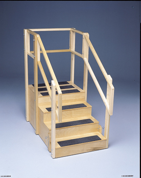 Two-Sided Convertible Training Stairs W/Platform, 30