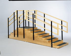 Two-Sided Convertible Training Stairs W/Platform, 36