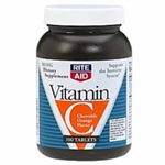 Vitamin C Chewable Tablets, 500mg - Model 195-1698, Pkg of 100