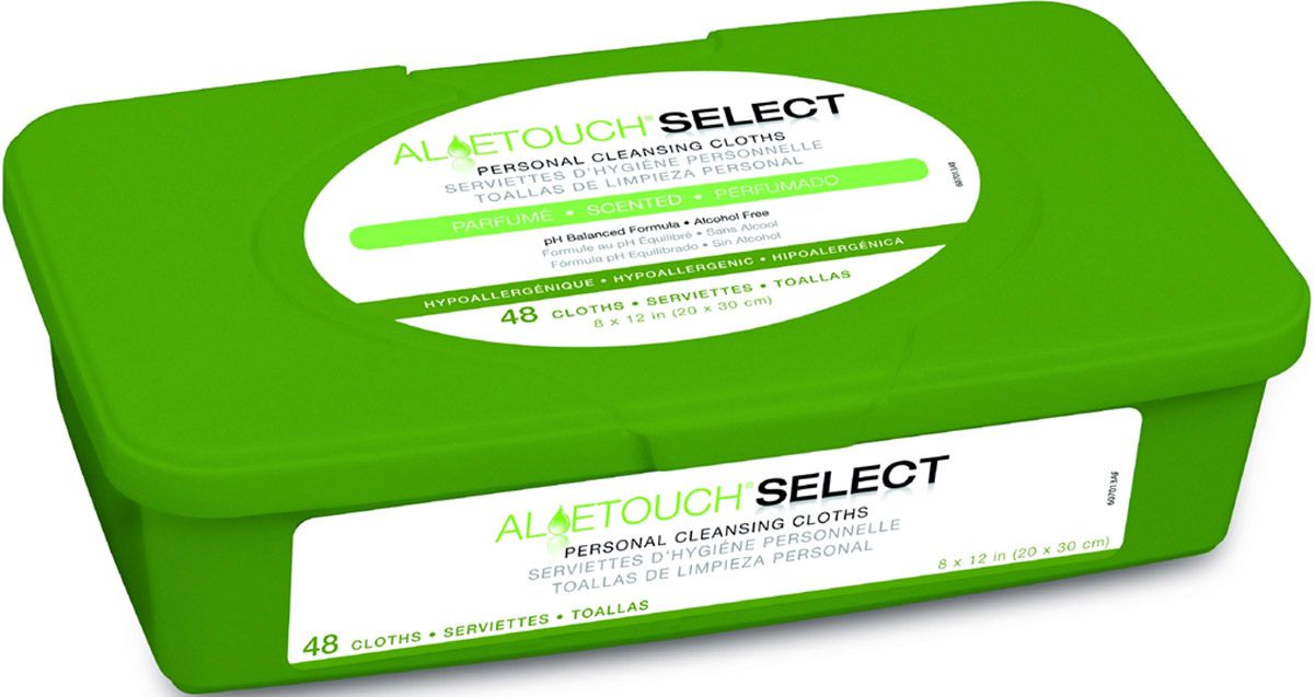 Aloetouch SELECT Premium Spunlace Personal Cleansing Wipe - Scented, 8X12, Each - Model MSC263701