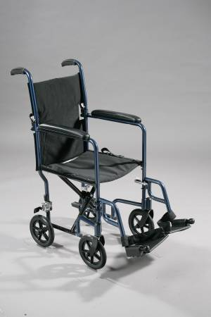 Drive Medical Transport Chair Aluminum 300 lbs Black, Each - Model ATC17-BL