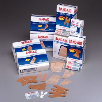 Band-Aid Flexible Fabric Strips, 3/4