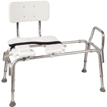 Eagle Health Bariatric Heavy Duty Sliding Transfer Bench w/ Cut-Out Seat - Item #567081