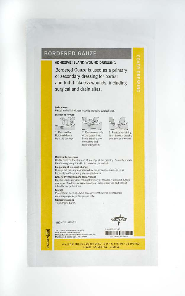 Medline Sterile Bordered Gauze - 4