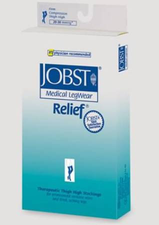 BSN Medical Jobst Relief Compression Stockings, Thigh-high Small Beige - Model 114640