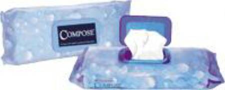 Conco Compose Ultrashield Premoistened Washcloth, 9 X 13 Inch Soft Pack, Pkg of 600 - Model 25600