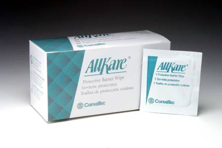 Convatec AllKare Skin Barrier Wipe, Individual Packet, Box of 100 - Model 37444