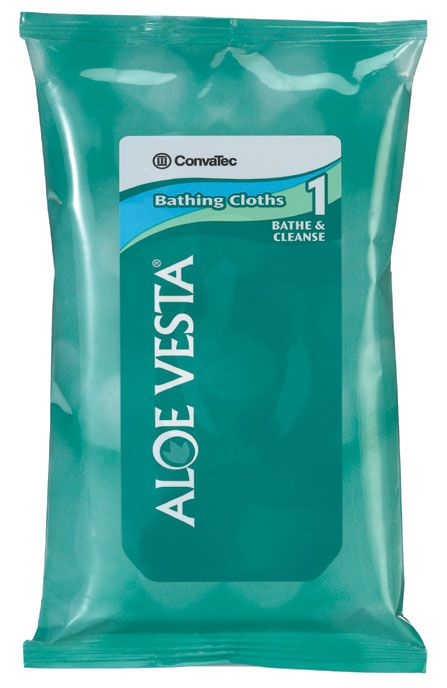 Convatec Aloe Vesta Bathing Cloth - w/ Aloe Vesta -Ordr Qty 24, Box of 24 - Model 325521
