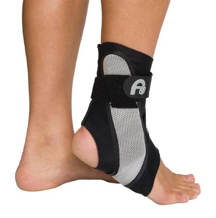 DJO Aircast A60 Ankle Support, Small Left Ankle, Black, Grey, Each - Model 02TSL