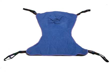 Full Body Sling 4 or 6 Points With Head Support Straps - Attached Medium 450 lbs, Blue, Each