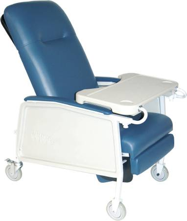 Multi-Position Recliner Blue Ridge Vinyl Upholstered Four 5 Inch Casters With 2 Locks, Each