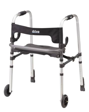 Drive Medical Clever-Lite LS Folding Walker Fixed Height, Aluminum 300 Lbs, Each - Model 10233