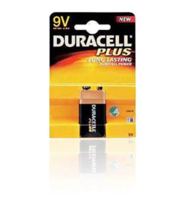 Duracell Zinc Carbon Battery 9 V, Accessory for Coppertop Saver, Pkg of 48 - Model MN1604B2Z