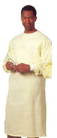 Fashion Seal Uniforms Precaution Gown Large 1-Ply Fabric Yellow, Each - Model 522-YLW
