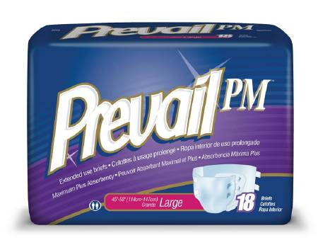 First Quality Prevail PM Brief, 45-58 Inch Large, Pkg of 72 - Model NTB-013/1
