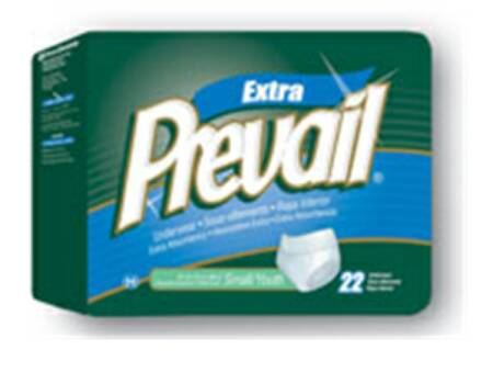 Prevail Underwear Full Coverage, 68-80 Inch 2X-Large Yellow Moderate-Heavy Absorbency, Pkg of 48