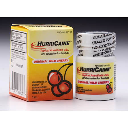 Beutlich Pharmaceuticals Hurricaine Topical Anesthetic - Gel, 1 oz, Each