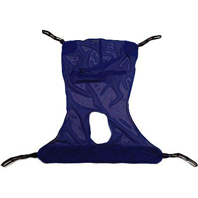 Full Body Sling 4-Point Head and Neck Support X-Large 450 lbs, Blue With Purple Binding, Each