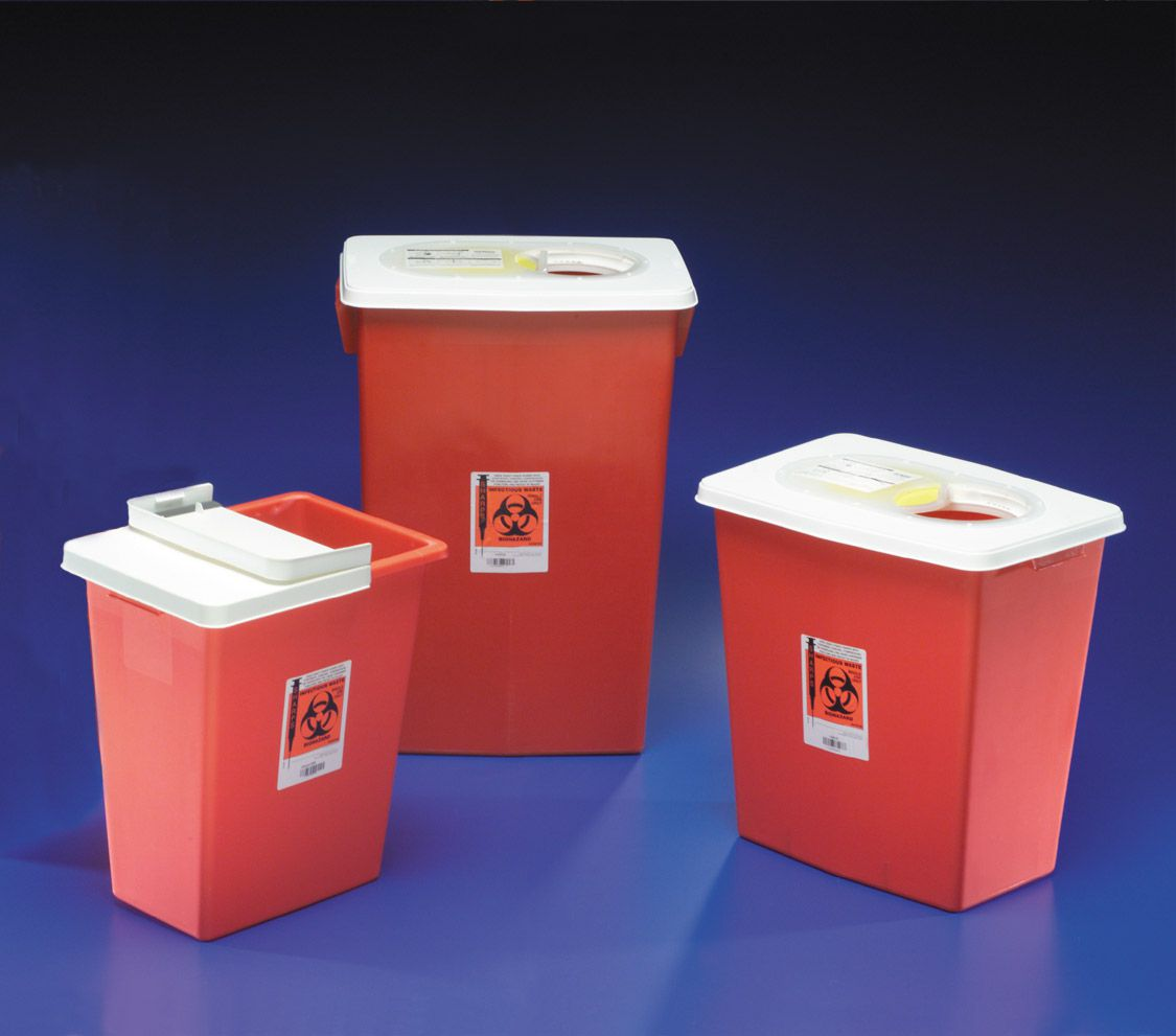 Kendall Sharps Container - Chemotherapy, Pg2, 12 Gal, Box of 10 - Model 8931PG2