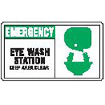 Lab Safety Supply Inc Eye Wash Station Sign - Model 128888P, Each