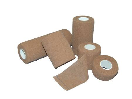Medi-Pak Performance Self-Adhesive Bandage, Elastic with Cohesive 4 Inch X 5 Yard NonSterile, Tan