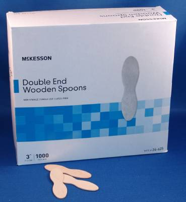 McKesson Spoon, General Purpose Wood Wood, Box of 1000 - Model 24-625
