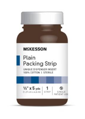 McKesson Wound Packing, Cotton 1/2 Inch X 5 Yards, Each - Model 61-59220