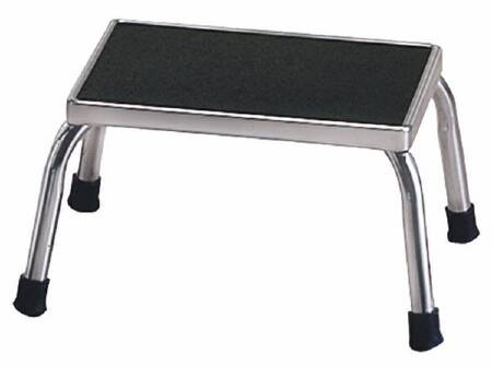 McKesson entrust Step Stool, 1-Step Chrome Plated Steel 8-3/4 Inch, Each - Model 81-11200