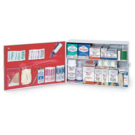 Medique First Aid Cabinet 2 Shelf Industrial - Model 756M1, Each