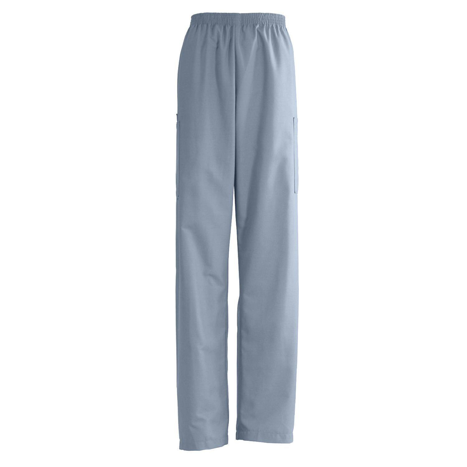 AngelStat Unisex Elastic Waist Cargo Scrub Pants - Misty, 2Xl, Long, XXL, Each - Model 674NTZXXLL