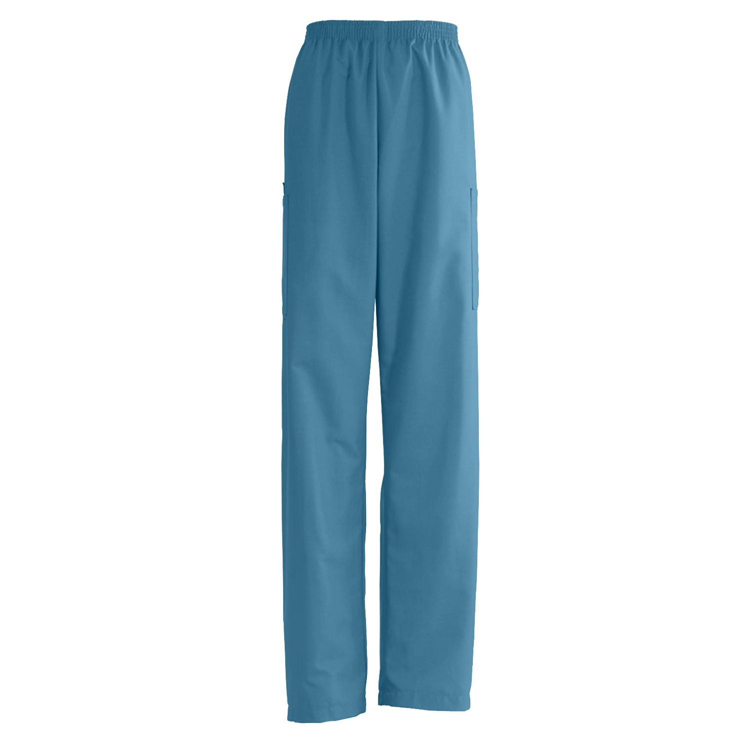 Medline AngelStat Unisex Elastic Waist Cargo Scrub Pants - Peacock, Xs, Md, Each - Model 674NBTXSM