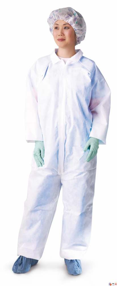 Classic Breathable Coverall - Brthble, Strght Wrst/Ankl, Wht, Xl, Box of 25 - Model NONCV300XL