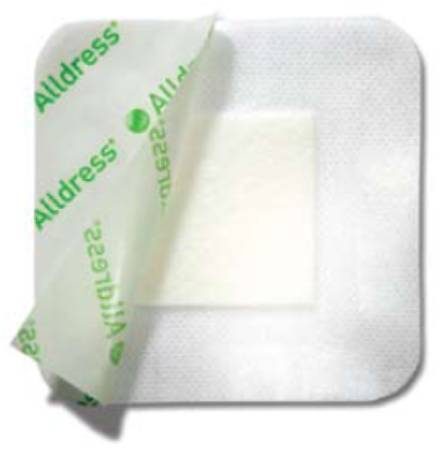 Molnlycke Alldress Composite Dressing, 6 X 8 Inch, 4 X 6 Inch Pad Porous Net, White, Box of 10 - Model 265369