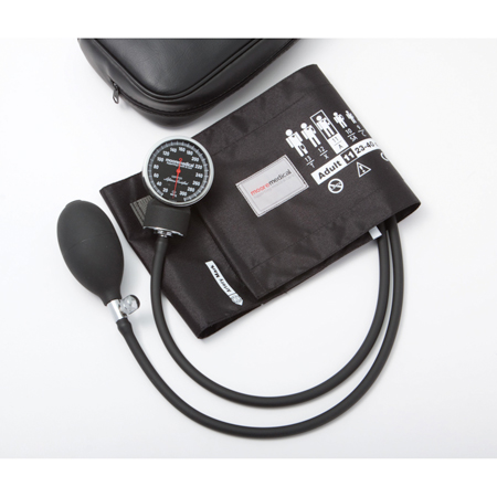 MooreBrand Premium Sphygmomanometer Latex Free - Range 19-27cm, Small Adult Size 10, Orange, Each