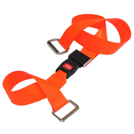 MooreBrand Ultra Guard Stretcher Cot Straps - Metal Push Button Buckle, 9 ', 1-Piece, Orange