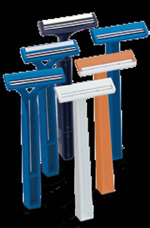 American Safety Razor Personna Long Handle Razor, Twin Blade, Pkg of 10 - Model 75-0017