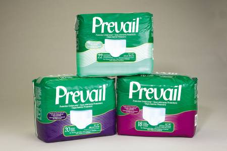 Prevail Underwear Pull-On, 34-46 Inch Medium Green Waistband Extra Absorbency, Pkg of 80
