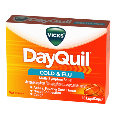 Procter & Gamble Vicks Dayquil Liquicaps, Box of 16