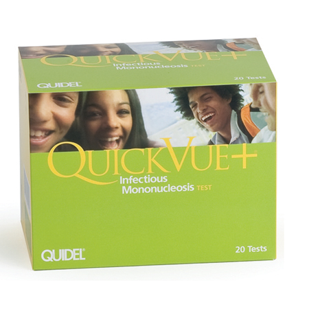 Quidel QuickVue+ Mono Test Kit - Model 20121, Box of 20