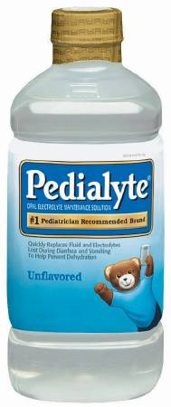 Abbott Pedialyte Pediatric Oral Supplement, 3 Calories Unflavored 1000 mL, Pkg of 8 - Model 336