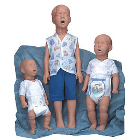 Simulaids Pediatric Manikins - 6- to 9-Month-Old African-American Kevin - Model 2976B, Each
