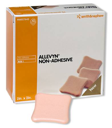 Smith & Nephew Allevyn Hydrogel Dressing, Hydrogel 2 X 2 Inch, Box of 10 - Model 66027643