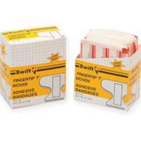 Swift First Aid First Aid Kit Woven Fingertip Bandages Refill Unit - Model 11350, Box of 40